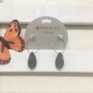 Panacea hoop and tear drop earrings